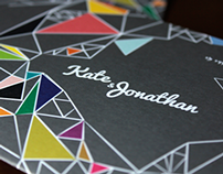 Kate & Jono's Wedding Invitation