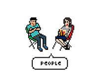 Pixel art (bicycle club poster)
