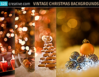 Vintage Christmas card backgrounds - stock photos