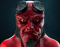 Hellboy 3D Bust