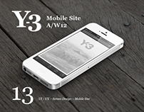 ADIDAS Y-3 Mobile Site A/W12 ~ Acne