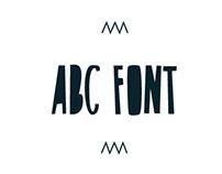 ABC FREE FONT /HANDWRITTEN/