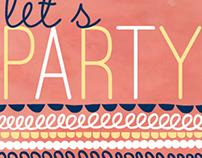 Folky Party - Design for an invitation via AFB