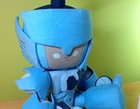 Custom Blurr jointed plush doll.