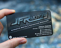 JFR Motors Black Metal Business Card