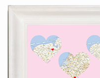 Heart World Places Frame
