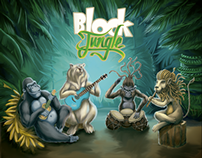 Block jungle - Illustration procces