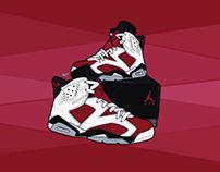 "Nike Air Jordan Retro 6 ""Carmine"""