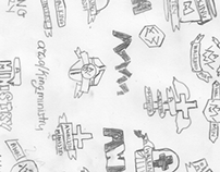 A Walking Ministry sketches and logos