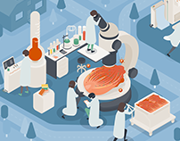 Kimchi lab in refrigerator