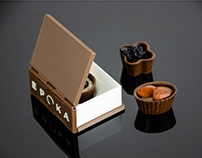 Book-shaped praline box /// EPOKA Restaurant