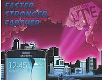 NewTasty: Comic Art Panel for T-Mobile LTE Samsung