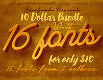10 Dollar Bundle vol.4 – 16 Custom Fonts!