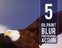 5 Oil Paint Photoshop Actions