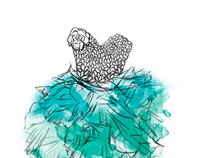 BLUE TUTU - Illustration - BUY HERE