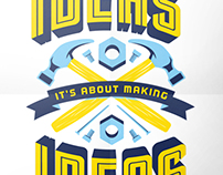 Typographic Motivational Poster Prints