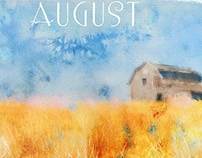 calendar. Canadian landscape