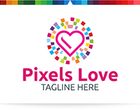 Pixels Love | Logo Template