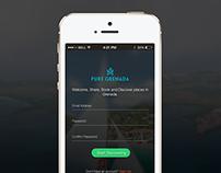 Pure Grenada App Login Concept.