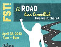 FST! Female StoryTellers Event Flyer - Road