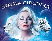 """Circus poster """"Magia circului""""."""