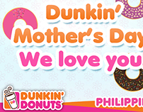 Dunkin Donut's PH Mother's Day Materials