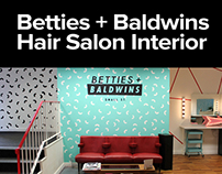 Betties + Baldwins Hair Salon Interior