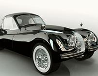 Jaguar XK120 FHC (Trabajo de postgrado diseño 3d)