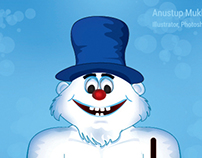 Snowman Character Illustration for Game