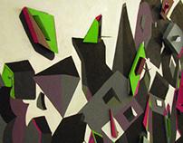 'Orderly Chaos'- 2D meets 3D Mural