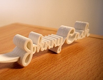 Johnny Cash - 3D Type for 3D Print