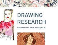 Drawing Research Project: Mucha, James Jean, Hajin Bae