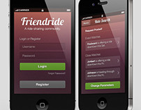 Friendride | App Design
