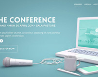 Conference Landing Page for pixeden