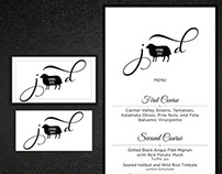 Wedding Logo/icon with menu & rsvp card