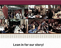 About Us page design for Table Crowd
