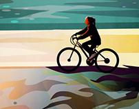 Ride on Round Lake