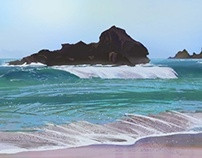 Beach Shore Photoshop Painting