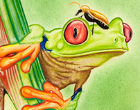 """Tree Frog"" 9x12"" work"