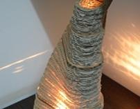 Cardboard Lamp - Form transformation