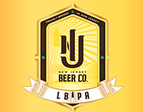 NJ BEER CO. | LBIPA Label Design