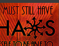 Chaos Quote Poster