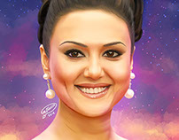 Preity Zinta | Digital Painting