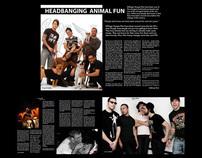 Six page spread for decibel magazine