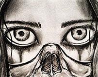 Skull mask girl