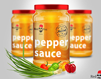Logo & Product Mockup - Red Fez Sauces