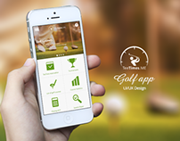 Teetimes golf app UI/UX design