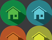 Home Icon *Flat Design