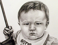 Figure Drawing - Portrait of a Baby