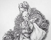 Spades skull Q